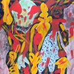 "Abdou's painting ""Struggle"""